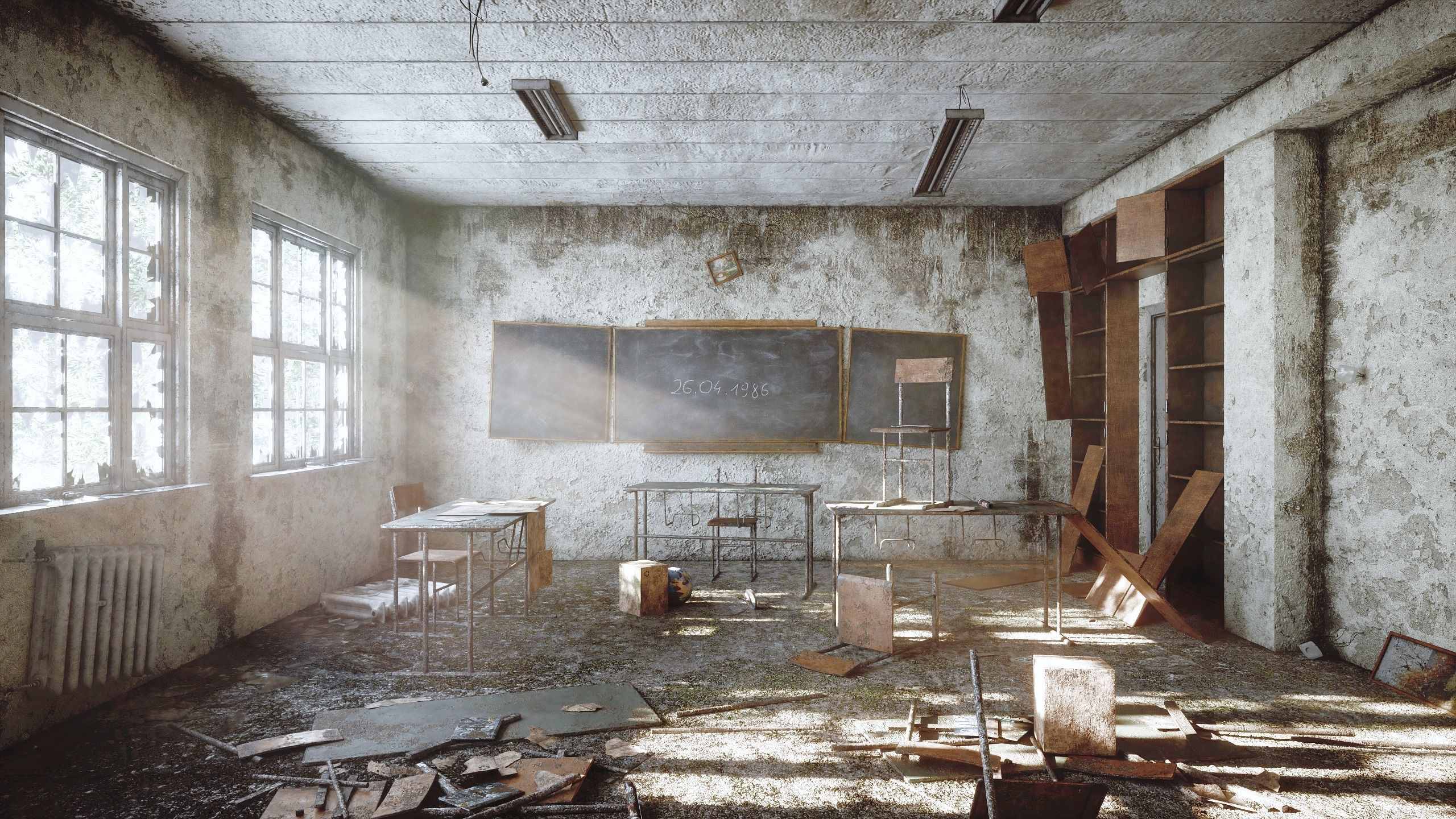 Abandoned classroom new and old