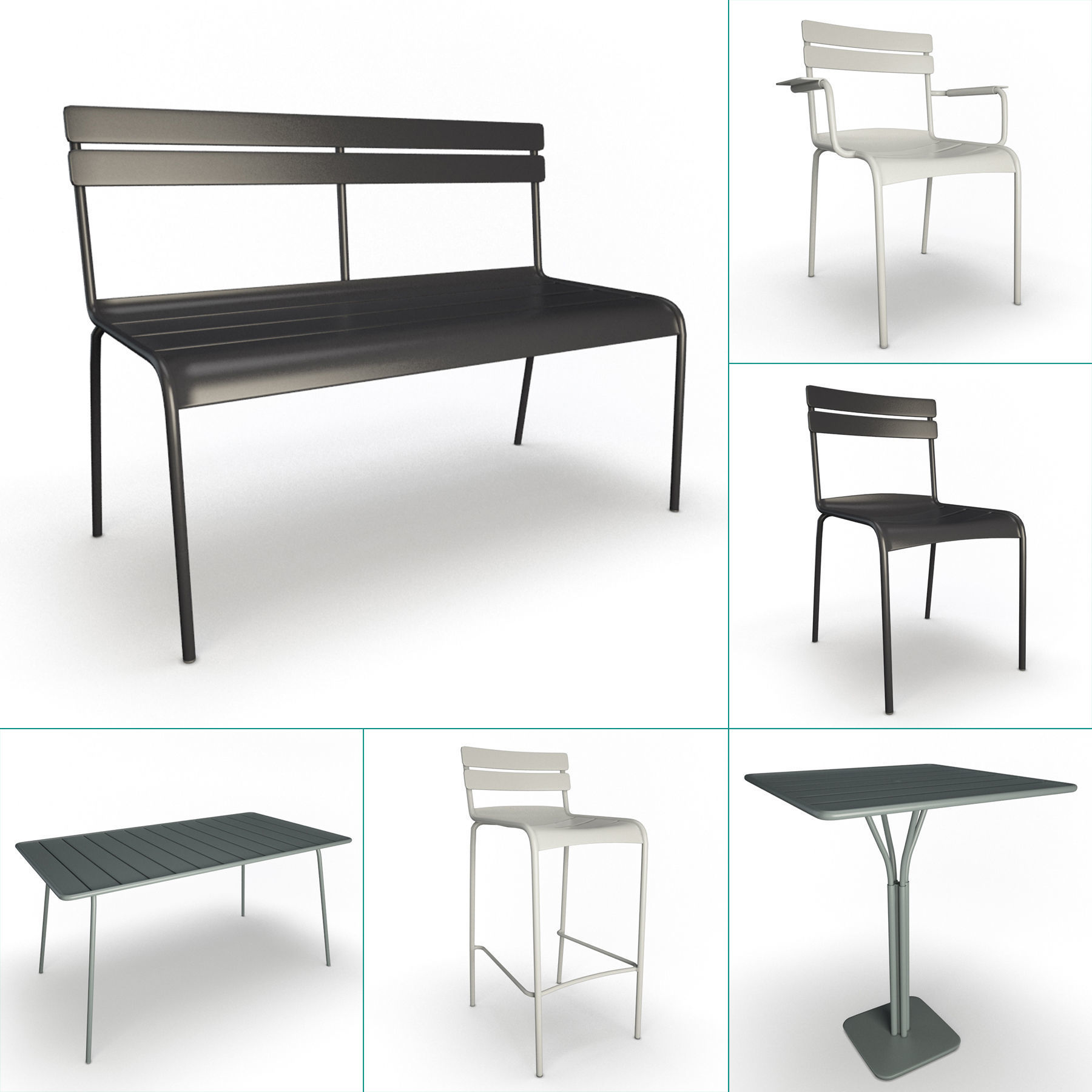 Luxembourg Metallic Outdoor Furniture Fermob