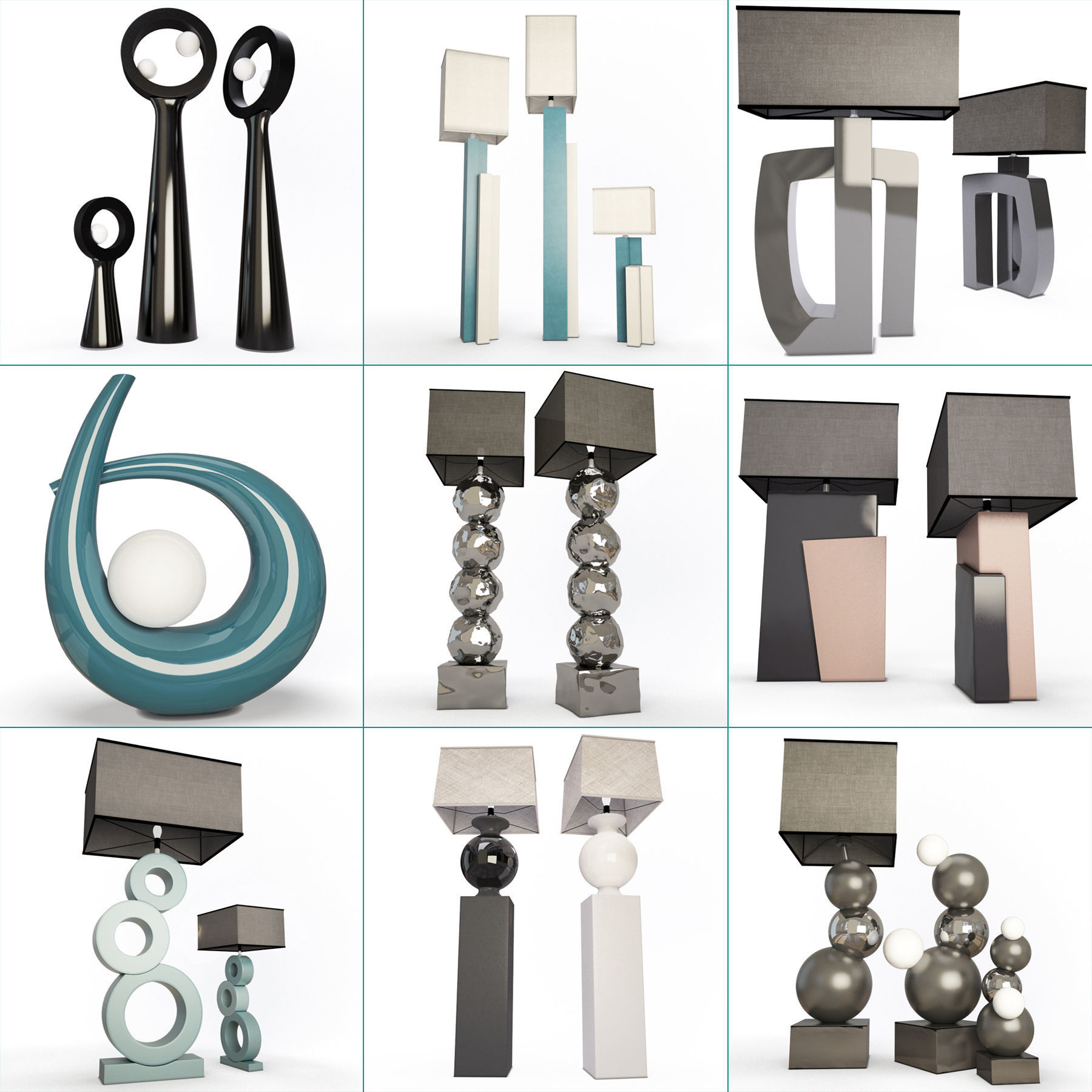 Modern Lamps Collection Faiences