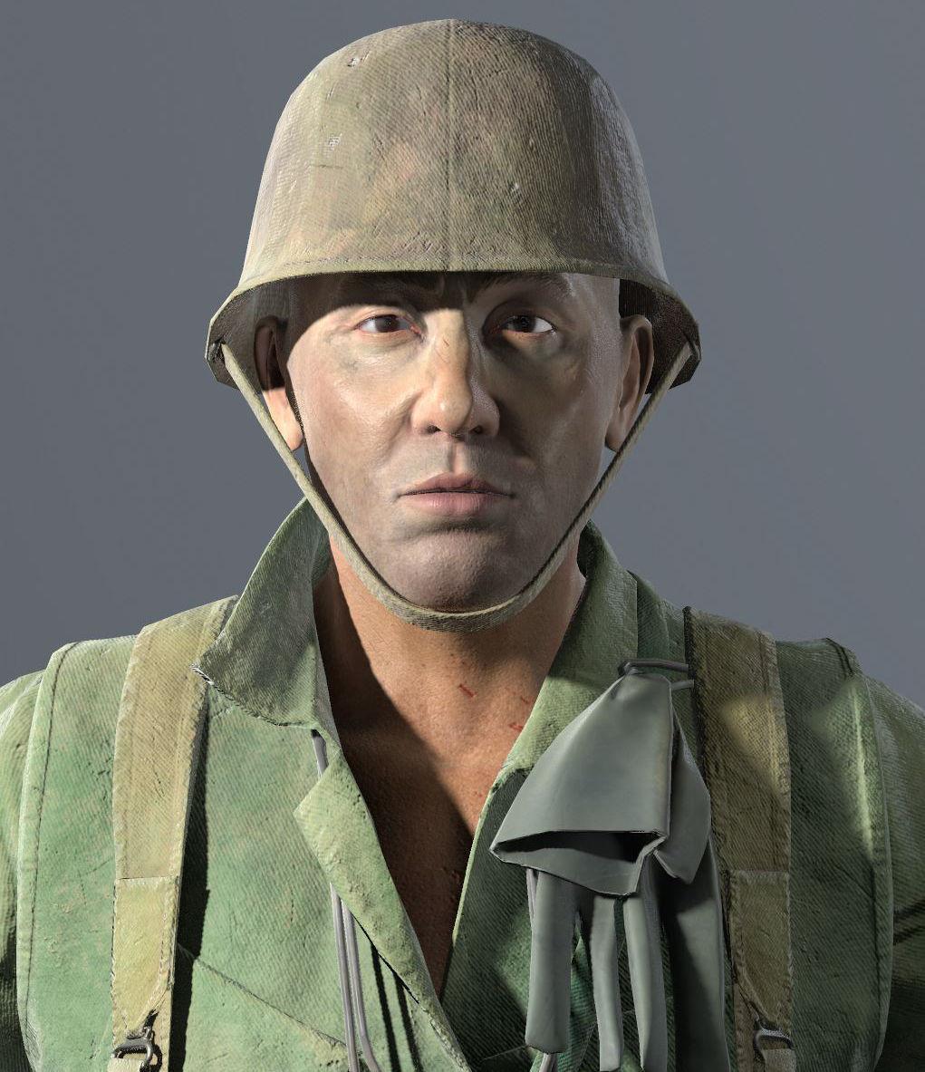 Vietnam War Us Soldier 3d Asset Cgtrader