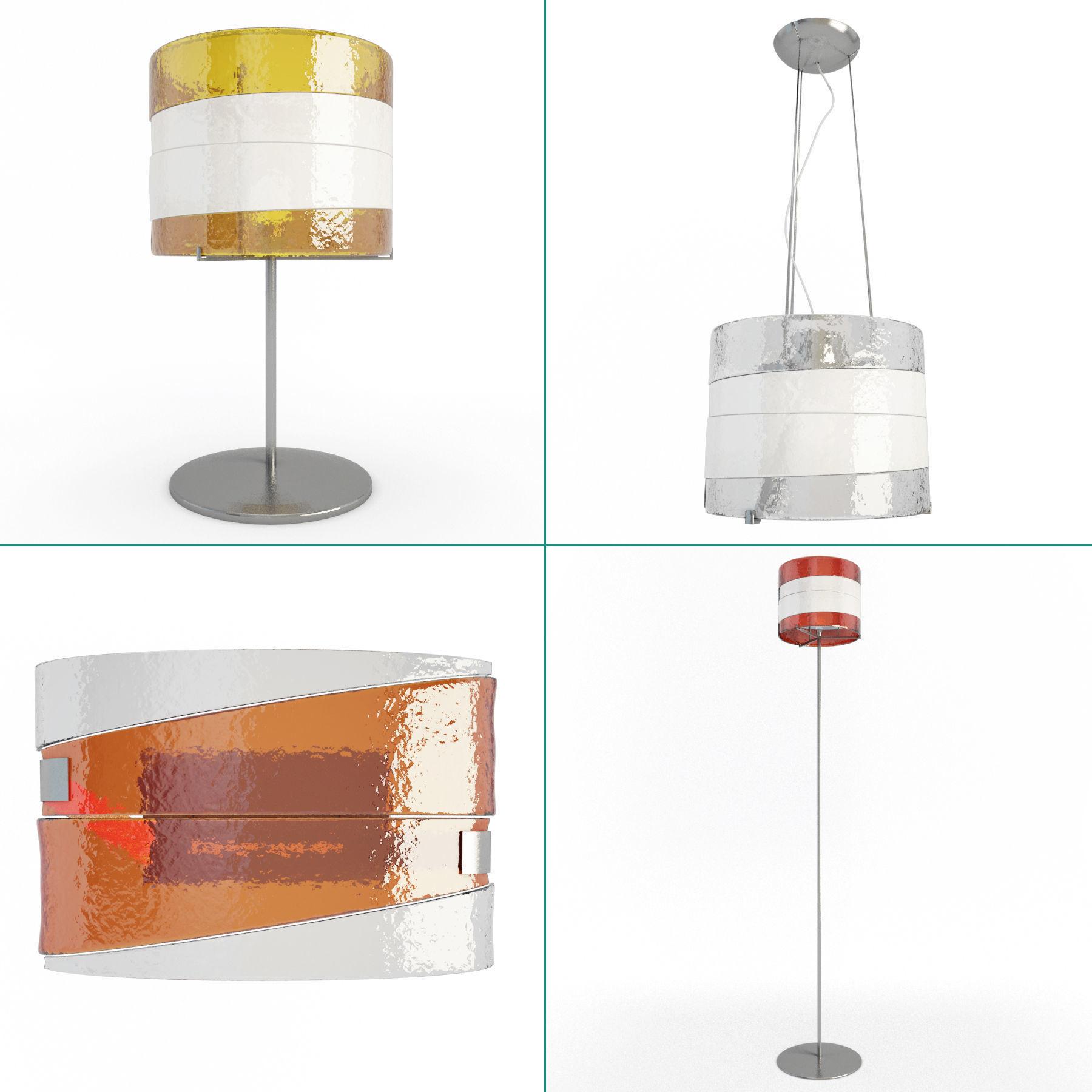 Riflessi Lamps Collection Av Mazzega