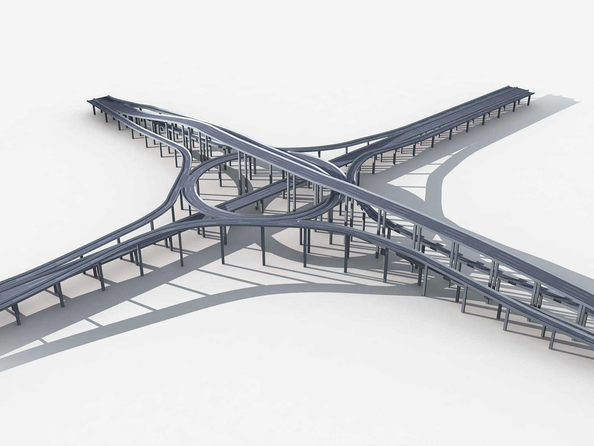 Highway Road Viaduct Flyover 05
