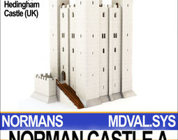 Medieval Norman Castle A Hedingham UK 3D Model