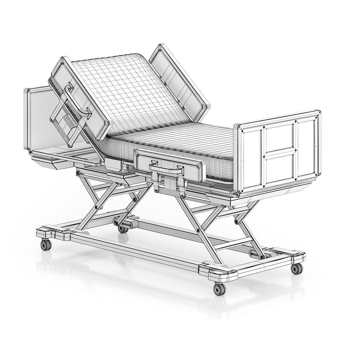 Advanced Hospital Bed 3d Model Max Obj Fbx C4d Mtl 2