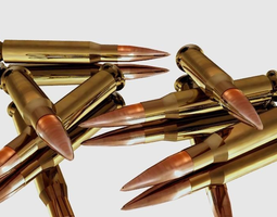 3d model glossy bullets VR / AR ready