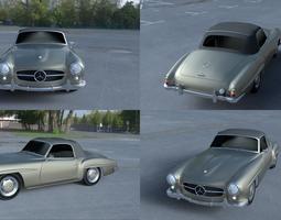 3D model Mercedes 190SL Soft Top