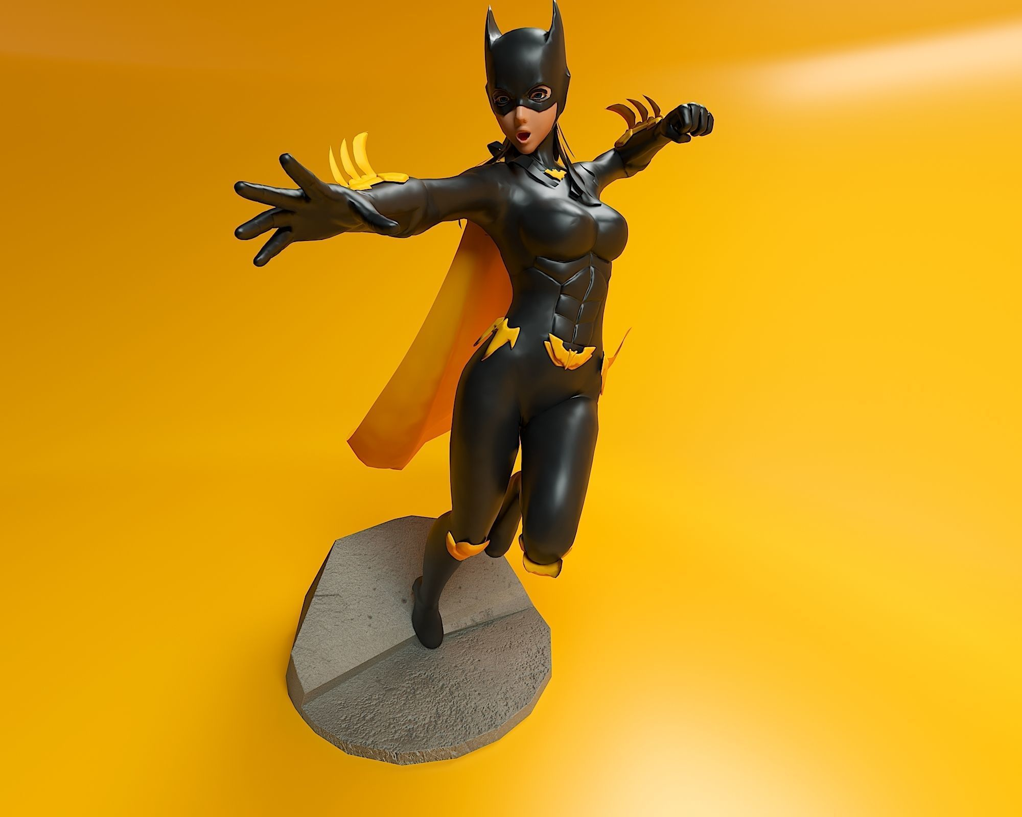 image about Batgirl Logo Printable referred to as BatGirl 3D Print Type