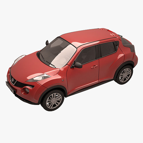 Nissan Juke 002 Red Model Max Obj Mtl Fbx 5