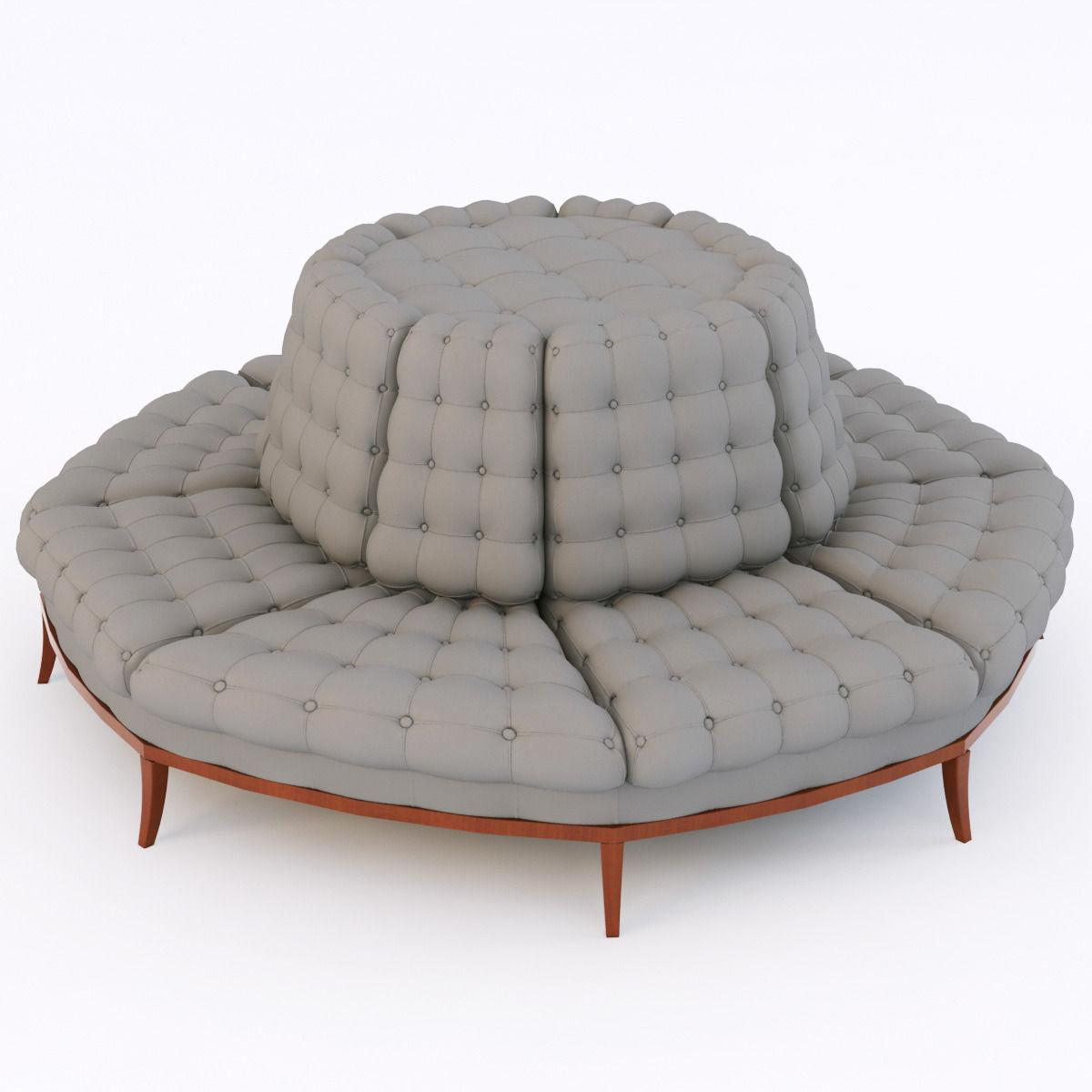 capitone sofa 3d model max obj fbx