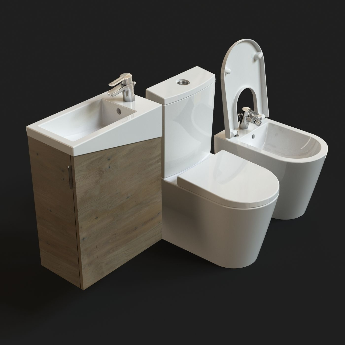 Urb y plus sanitaryware free model free 3d model max obj for Bathroom design 3d model