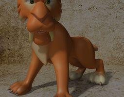 game-ready cartoon sabertooth tiger rigged 3d asset