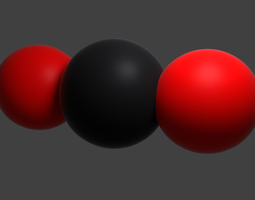 Carbon dioxide the CO2 molecule 3D Model