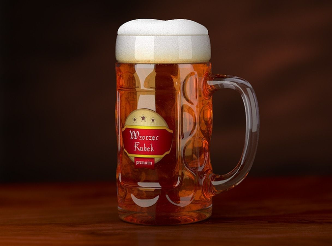 patterned beer mug 3d model obj fbx stl blend mtl 1