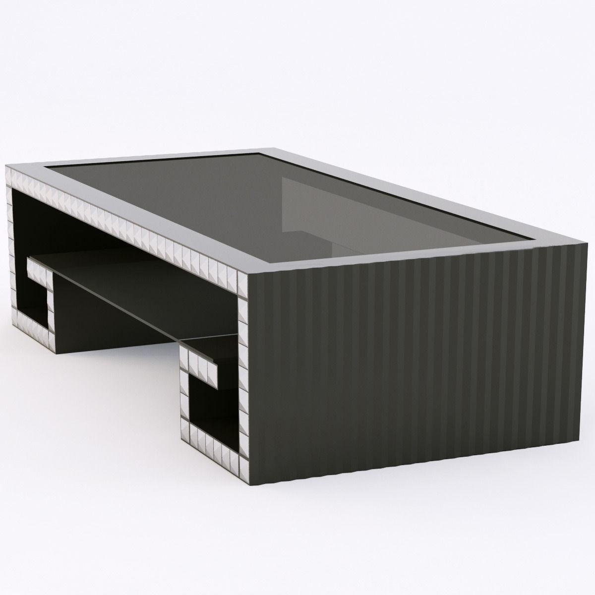 francesco molon t502 coctaile table coffre 3d model max obj 3ds fbx. Black Bedroom Furniture Sets. Home Design Ideas