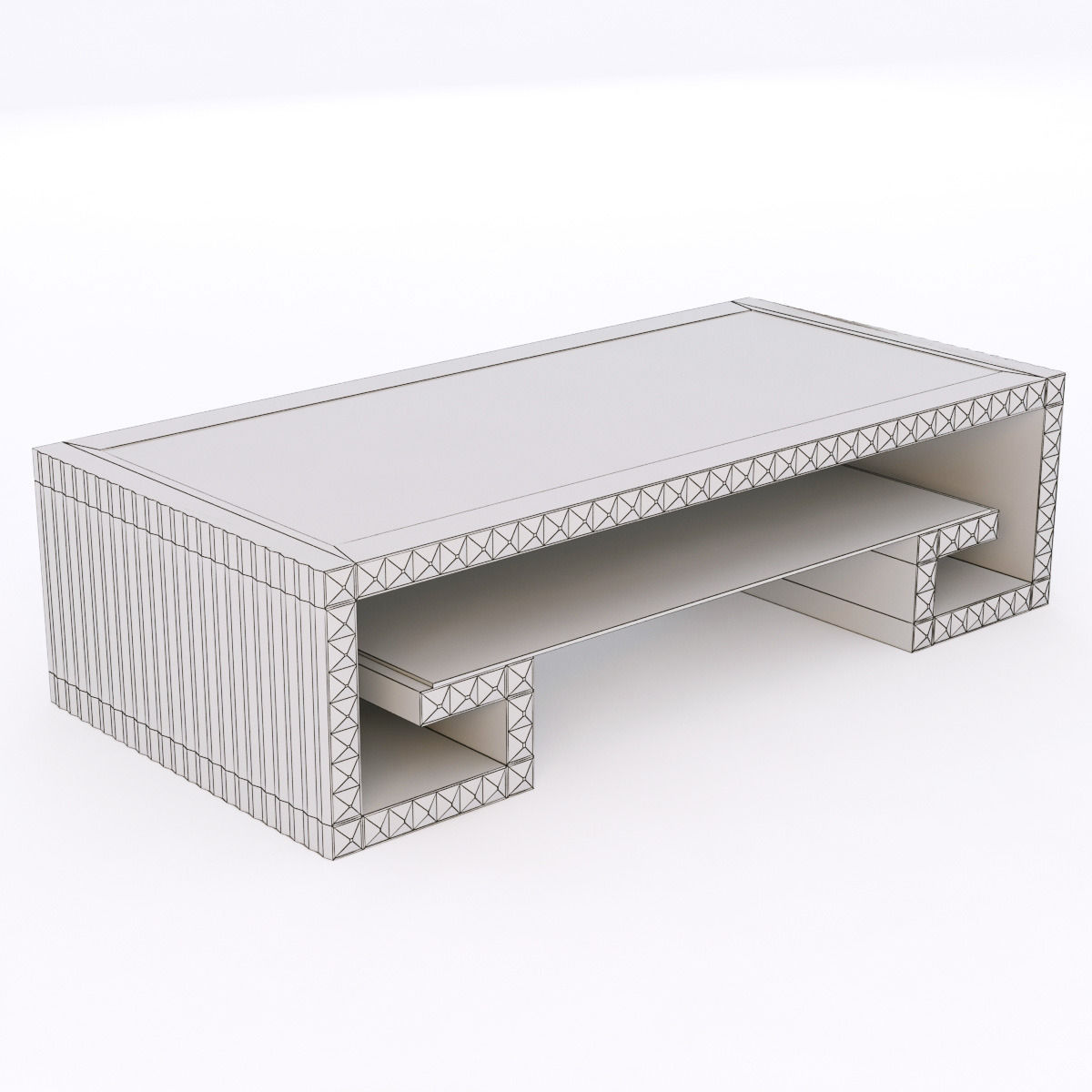 Francesco molon t502 coctaile table coffre 3d model for Table coffre