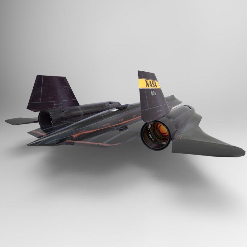 SR-71 Spyplane 3D Model OBJ 3DS - CGTrader.com