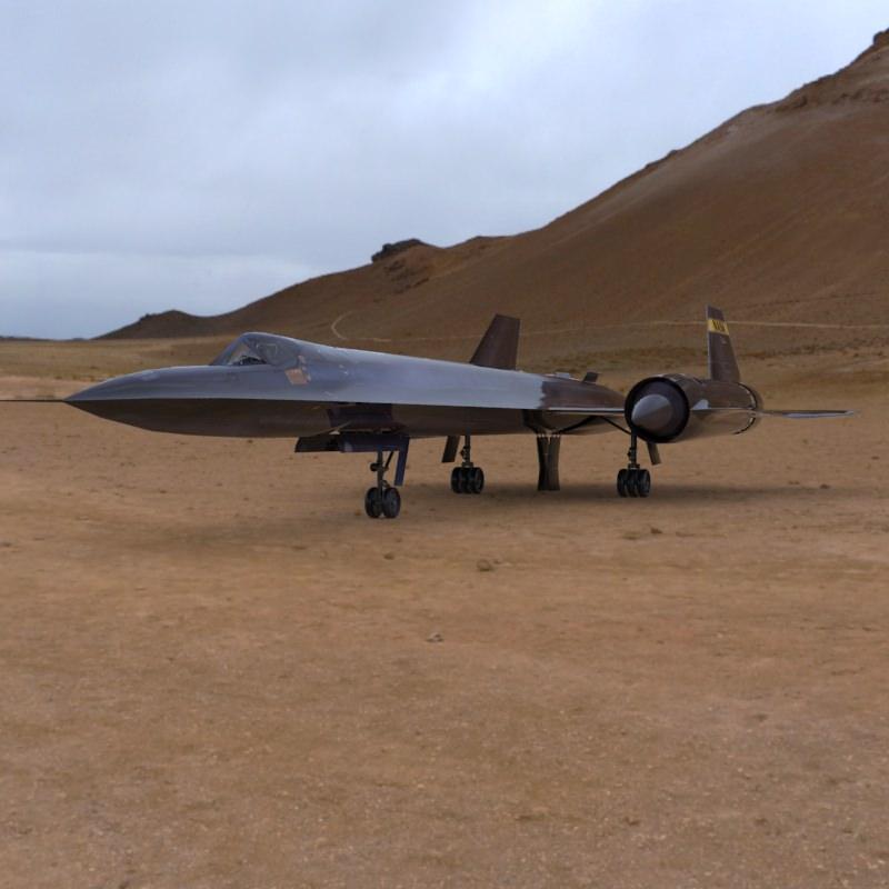 SR-71 Spyplane 3D model from CGTrader.com - YouTube