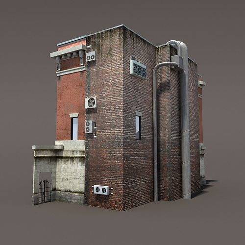 3d Model Fire Station Building Low Poly Vr Ar Low Poly