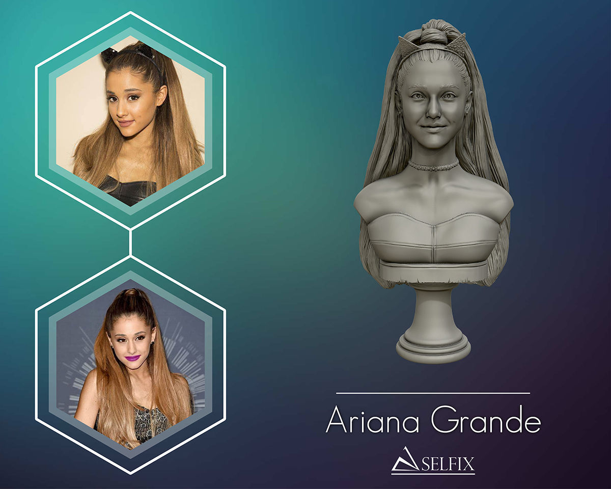 Ariana Grande sculpture Ready to 3D print