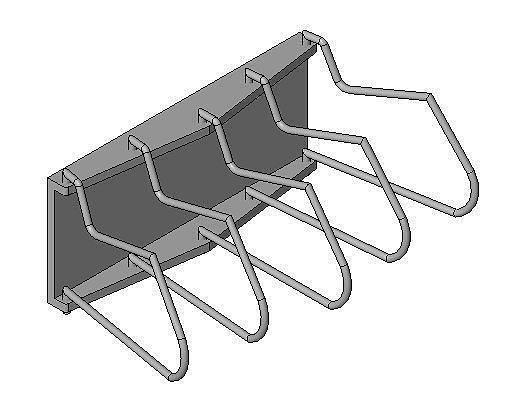 x-ray rack apron wall mounted cloth hook 3d model rfa 1