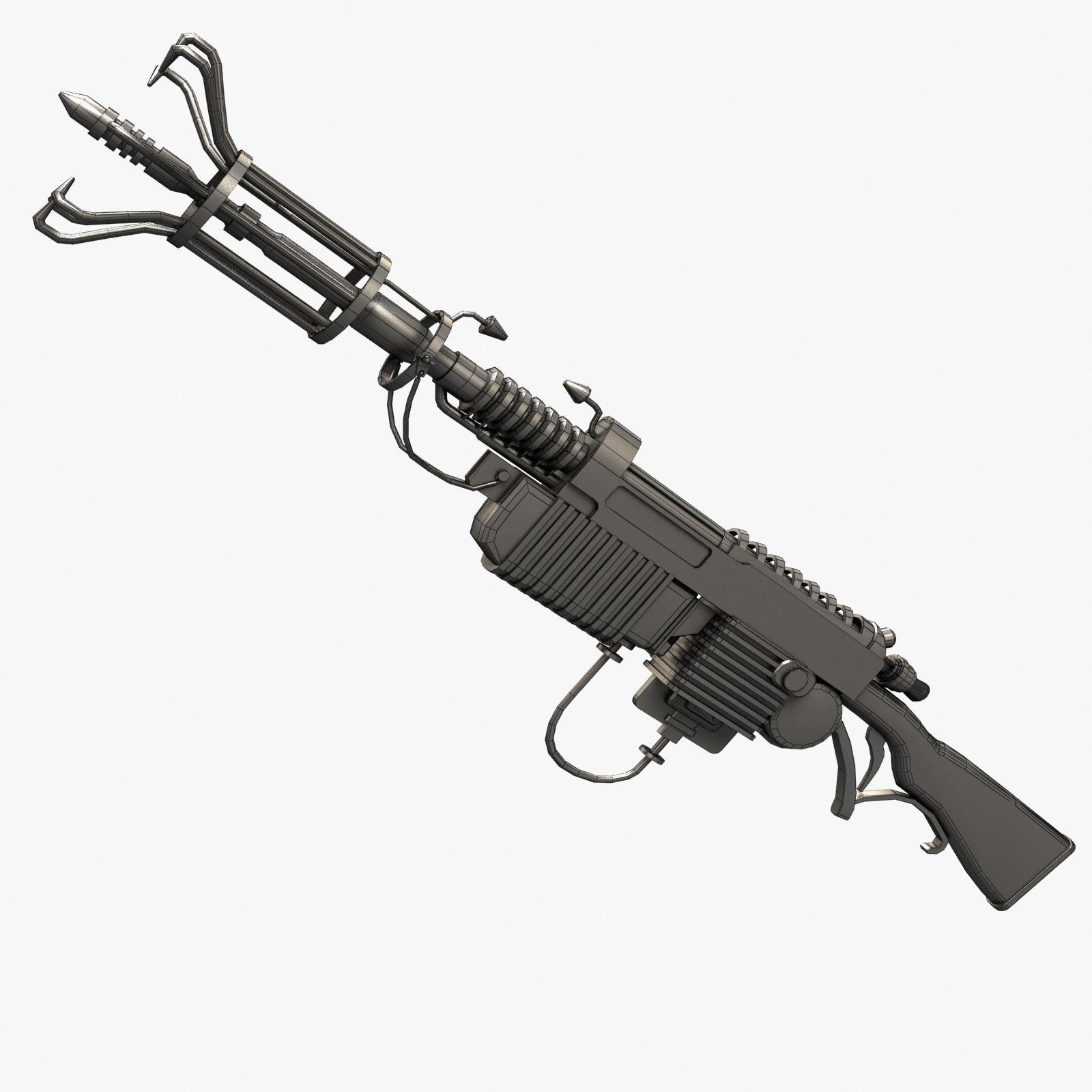 Wunderwaffe Dg 2 3d Model Game Ready Max Obj 3ds Fbx