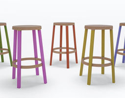 Step high stool by Established and Sons 3D