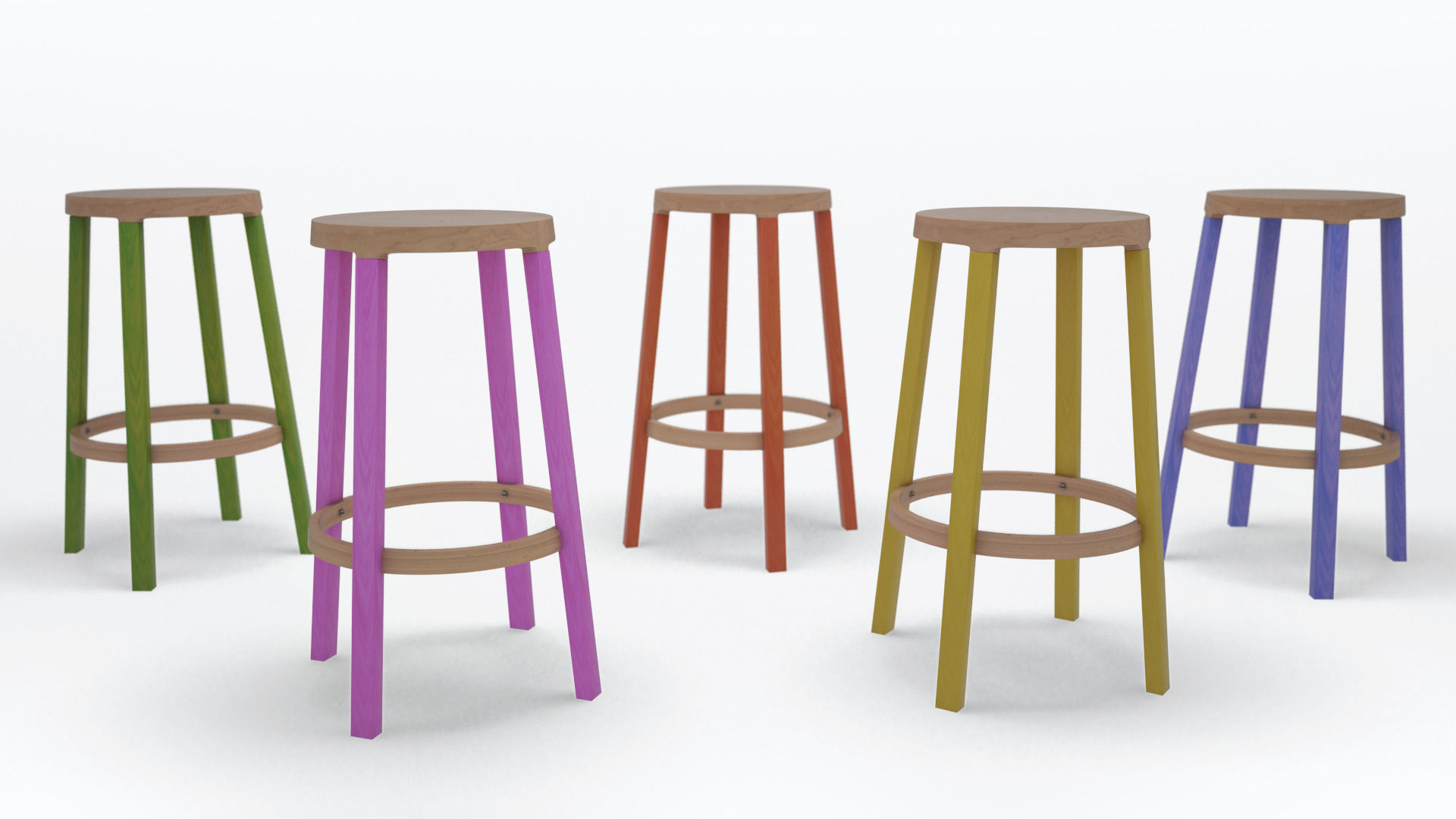 Step high stool by established and sons 3d model obj 3ds for Barhocker 3d model