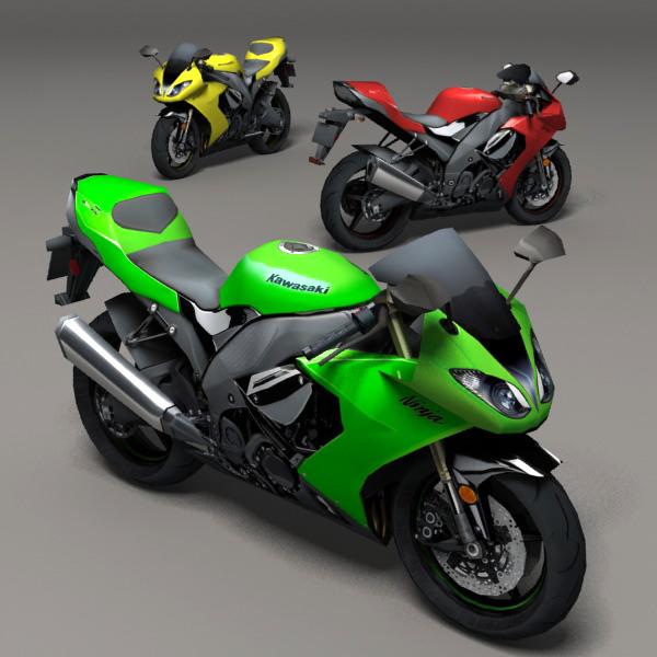Kawasaki Ninja 3D model | CGTrader
