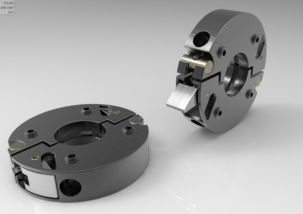 Sectors ring cam lever clamp for shaft d model stp