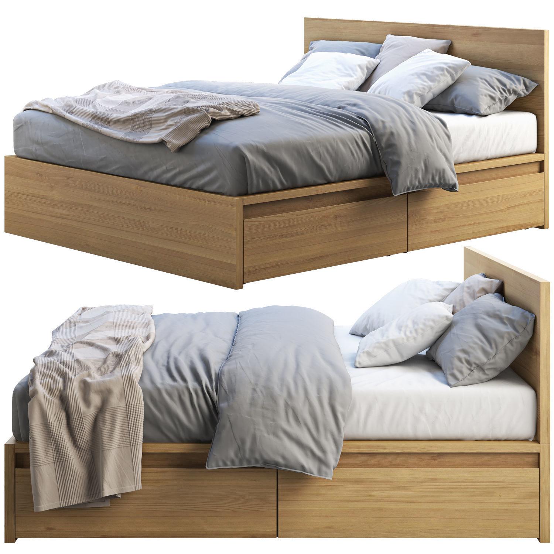 3d Ikea Malm Bed 2 Cgtrader