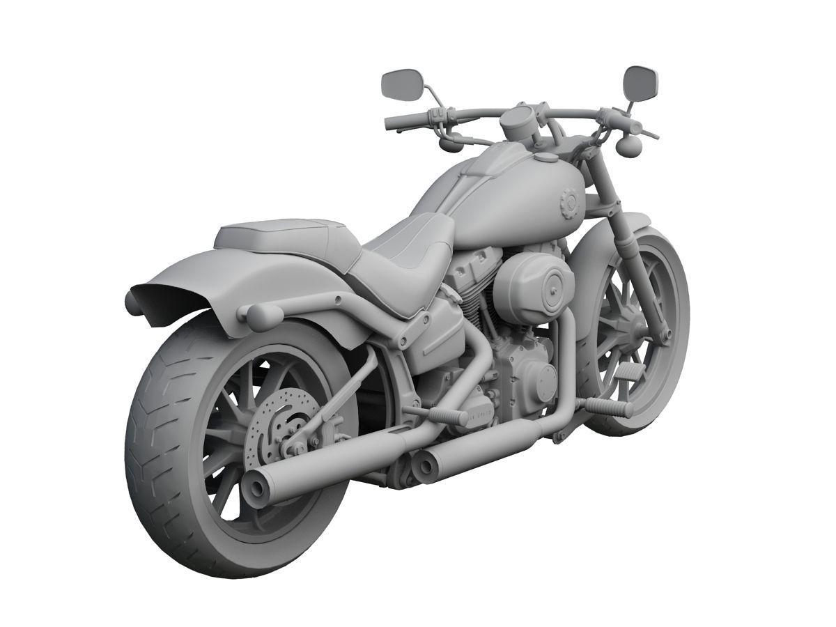 Harley Davidson Street Glide 2015 3d Model 3ds C4d Fbx Lwo