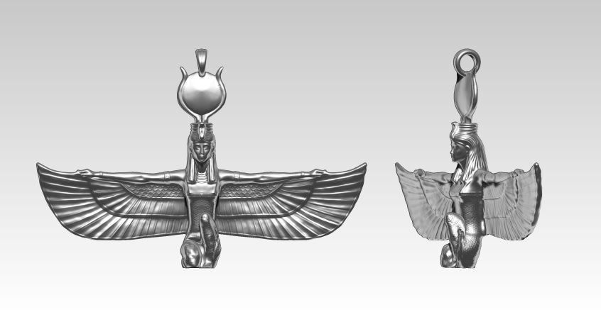 Isis Pendant Detailed Realistic