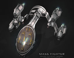 rigged mass fighter 3d model
