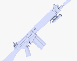 3D asset FN Fal