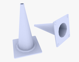 game-ready traffic cone 3d asset
