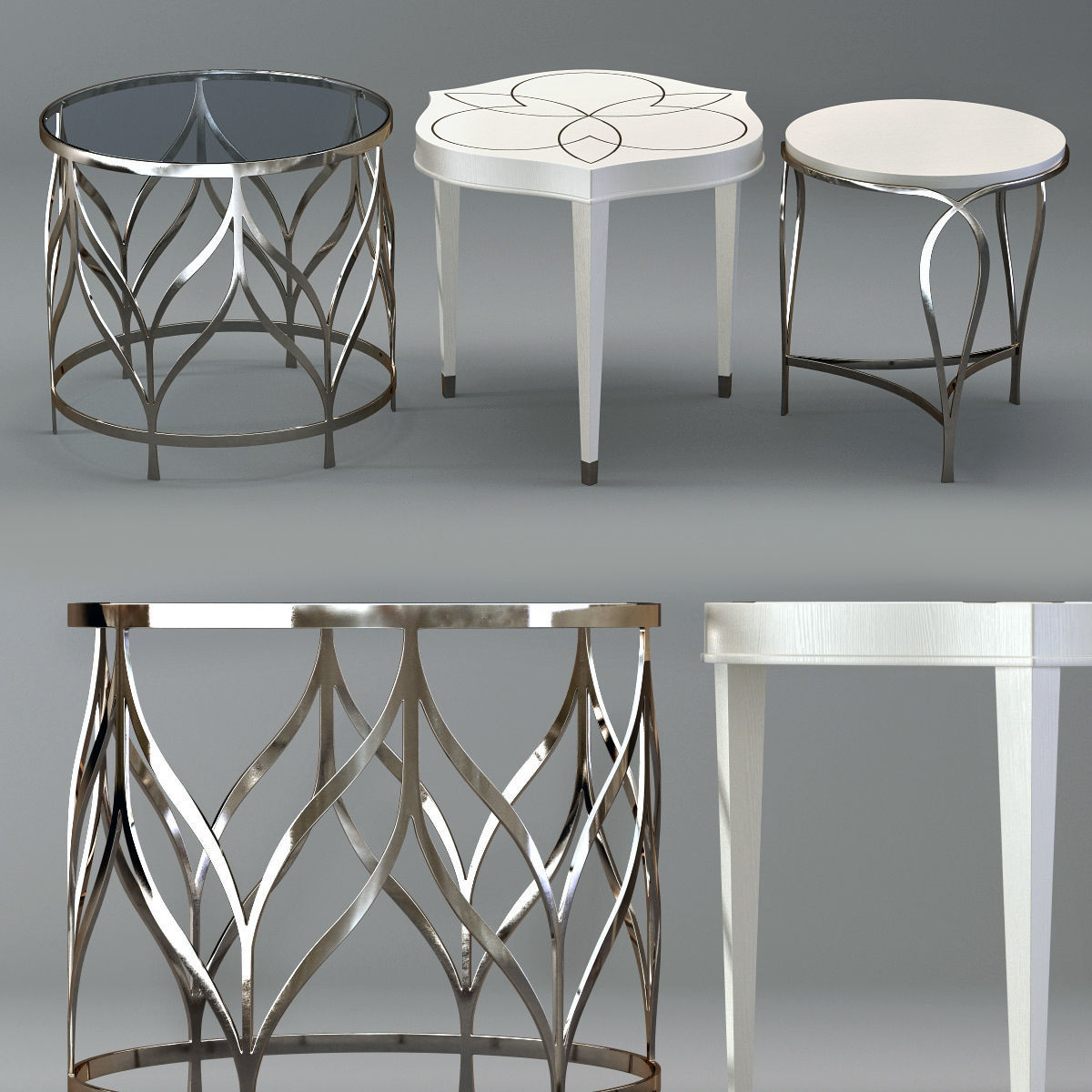 Surprising Bernhardt Calista Accent Tables 3D Model Gmtry Best Dining Table And Chair Ideas Images Gmtryco