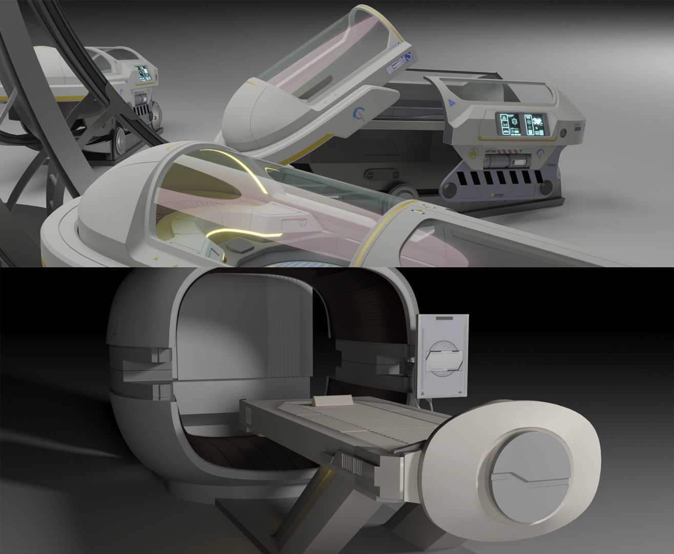 Sci Fi Cryo and Med Pods