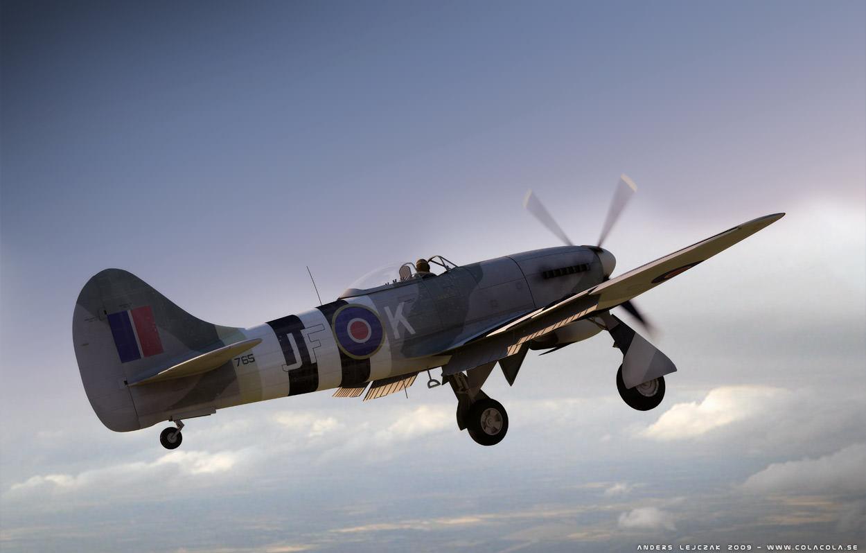 Hawker Tempest 3d Model Obj 3ds Cgtrader Com