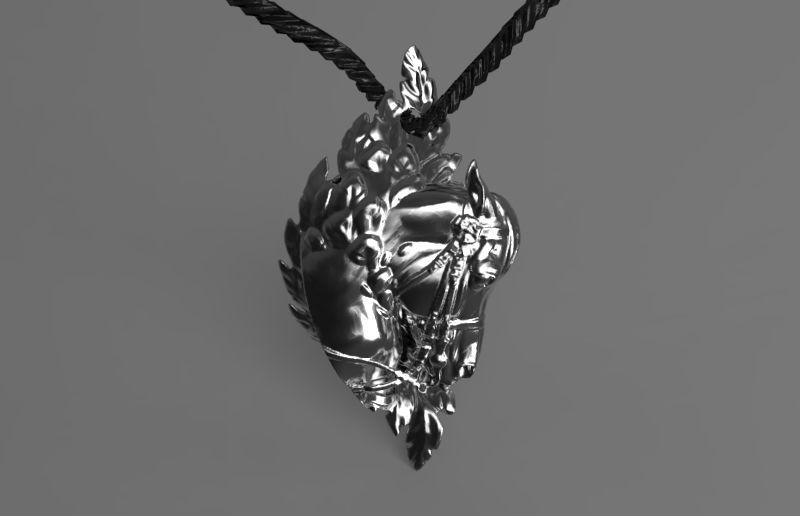 Pegasus Horse Mustang Pendant with Wings