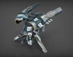 drone v4 cybertech 3d model low-poly max obj 3ds fbx