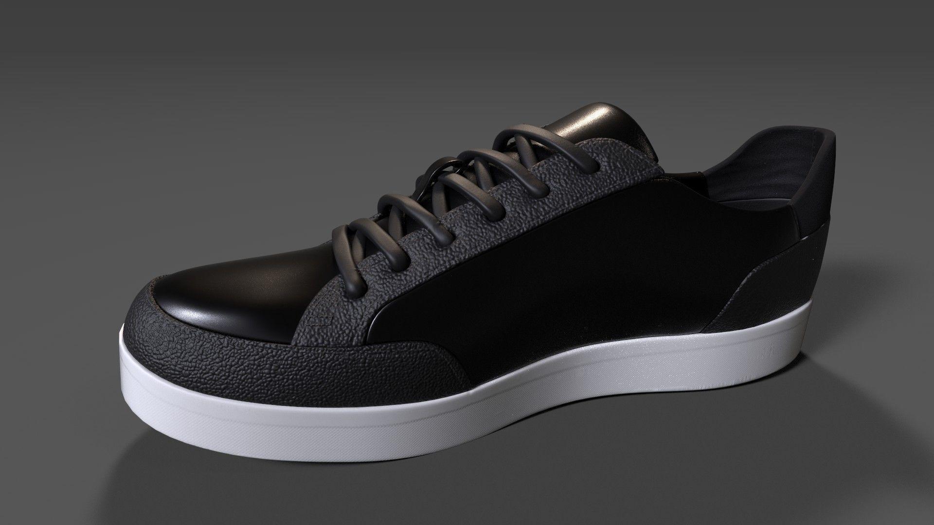 3D asset Calvin Klein Mens Izar Leather