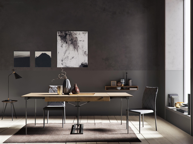 Grey Wall interior scene