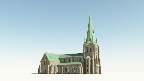 neo gothic church 3d model obj vue. Black Bedroom Furniture Sets. Home Design Ideas