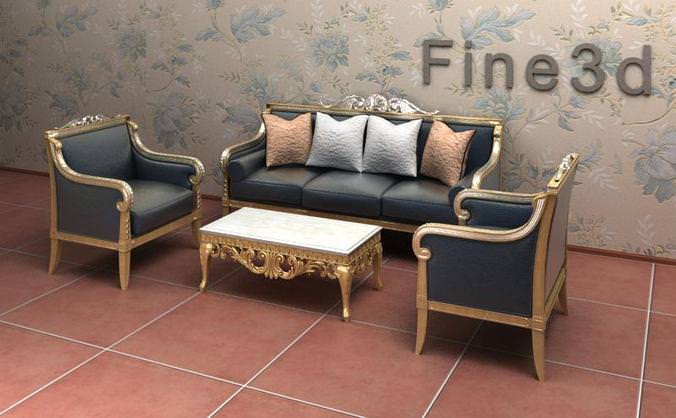 Living room furniture set collection 3d model max obj 3ds for New model living room furniture