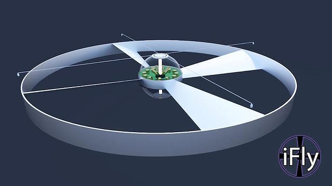 drone concept 3d model blend 1