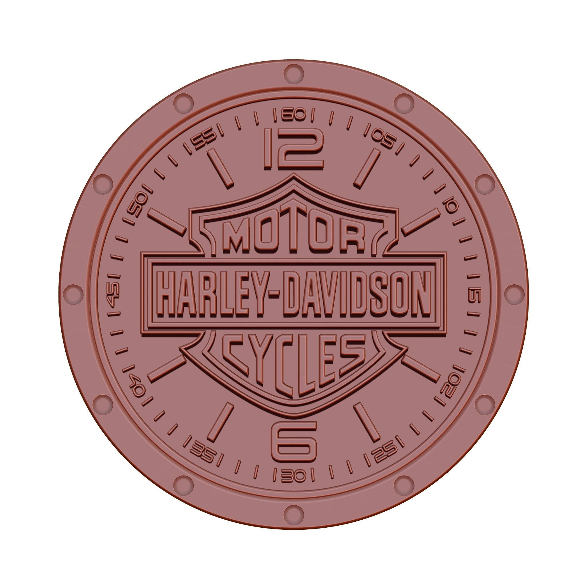 photograph about Printable Harley Davidson Logo named Clock Harley 3D Print Style
