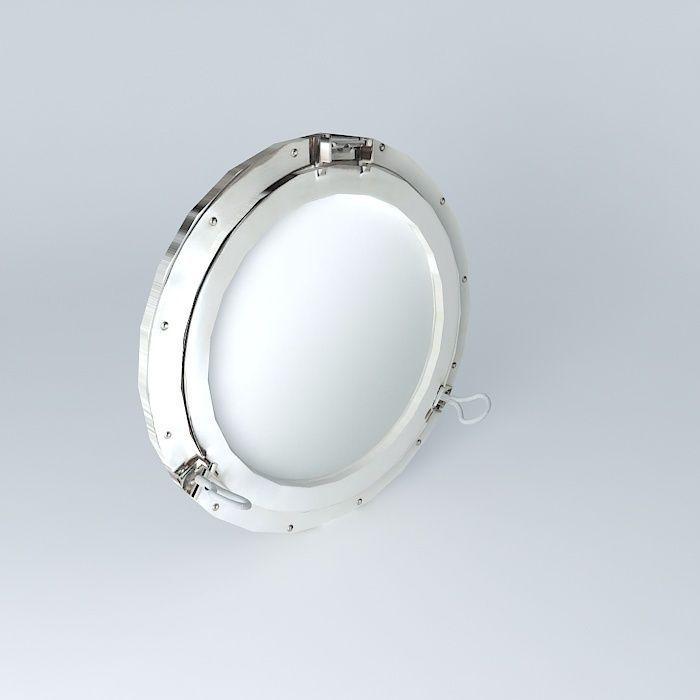 Navy mirror 3d model max obj 3ds fbx stl dae for Mirror 3d model