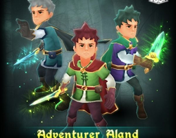 Adventurer Aland 3D Model