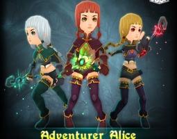 Adventurer Alice 3D Model