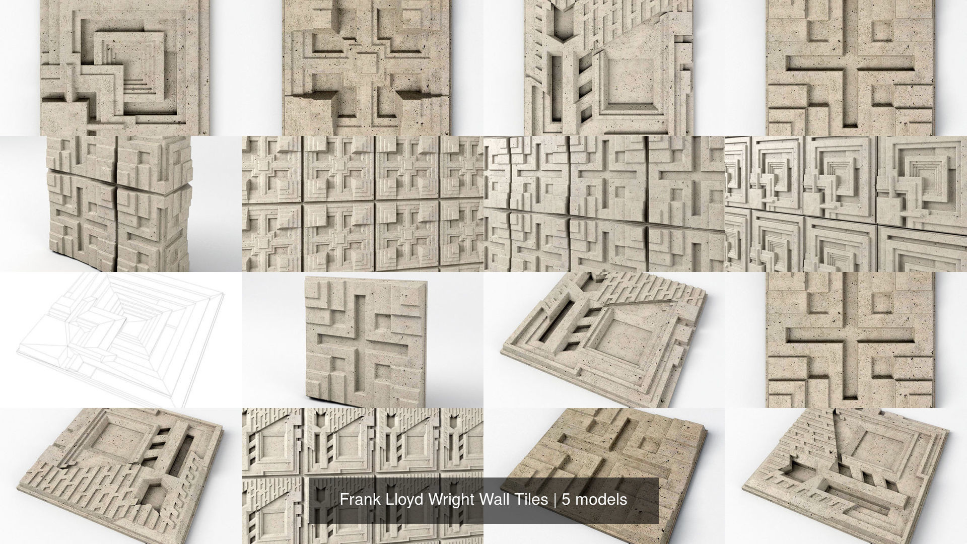 Frank Lloyd Wright Wall Tiles
